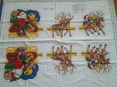 V.I.P Santa's Sleigh Fabric Panel Cranston Print  #VIPbyCranston