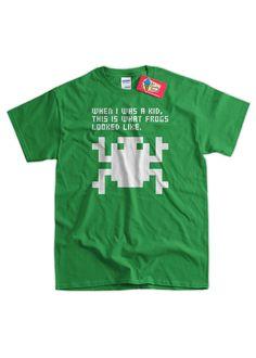 Retro Arcade Video Game Frog Pixel Frog Tshirt by IceCreamTees