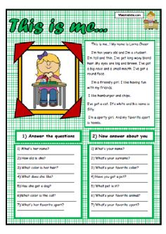 english teaching worksheets personal information ideas para el hogar pinterest worksheets. Black Bedroom Furniture Sets. Home Design Ideas