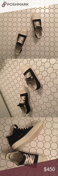 Authentic Rick Owens Men's Sneaker Excellent condition. Came with the original dust bag. Only slight worn once. Authentic. Euro 44. Ture to the size. Rick Owens Shoes Sneakers