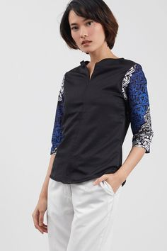 Naison Top In Blue