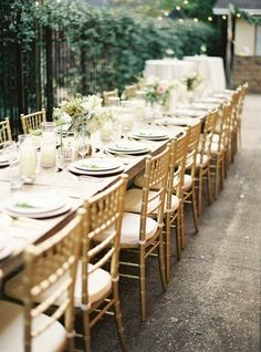 Gilded table: http://www.stylemepretty.com/living/2014/11/25/magical-friends-giving-dinner-under-the-stars/ | Photography: Julie Cate - http://juliecate.com/