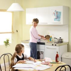 Mother and daughter with a residential Micro Module Kitchen Solution
