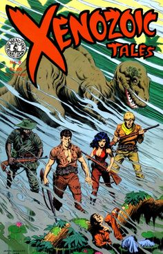 Xenozoic Tales (Cadillacs and Dinosaurs) comic-book covers #8 to #14 by Mark Schultz