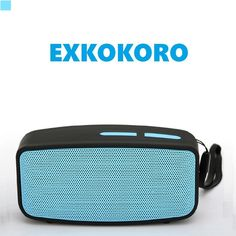 Amazon.com: Exkokoro(TM)zSounds 360 Surround Sound Hi-Fi Portable Wireless Bluetooth Speaker Subwoofer with Powerful Bass,Micro SD/MIC/USB/AUX,Support Hands-free Calls/MP3/FM Radio(Blue): Cell Phones & Accessories