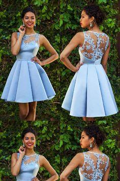 Blue Short Y Lace Okdr0608160