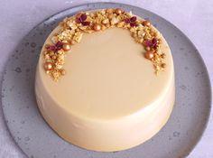 150 g Gold chokolade Marcel, Naked Cakes, Food Cakes, Fancy Cakes, Mousse, Panna Cotta, Frosting, Cake Recipes, Cake Decorating
