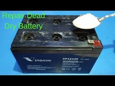 Respiration How to Repair Dead Dry Battery at home Repairing Lead Acid Battery - YouTube