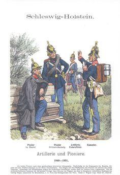 Band XVI #54.- Schleswig-Holstein. Artillerie und Pioniere. 1848-51.