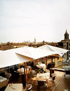 The terrace of this Roman restaurant overlooks many of the Eternal City's architectural wonders, from the Pantheon and St. Peter's Basilica to Castel Sant'Angelo and Giuseppe Sacconi's 1885 war memorial. See more rooftop restaurants and bars from around the world.