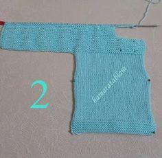 Hamaratablam: Kolay bebek ceketi açıklaması & Baby jacket description Crochet Baby, Knit Crochet, Baby Cardigan, Baby Knitting Patterns, Knitting Projects, Children, Sweaters, Blog, Jackets