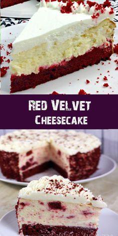 """Ok ok so red velvet cheesecake is not so """"new""""~ I'm sure many of you have ., Ok ok so red velvet cheesecake is not so """"new""""~ I'm sure many of you have . Red Velvet Cheese Cake Recipe, Red Velvet Cheesecake Cake, Chocolate Cheesecake, Velvet Cake, Birthday Cheesecake, Christmas Cheesecake, Birthday Cake, 15th Birthday, Easy Cheesecake Recipes"""