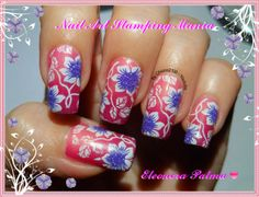 Nail Art Stamping Mania: Layla Thermo Polish 04 with Cheeky Jumbo Plate 10