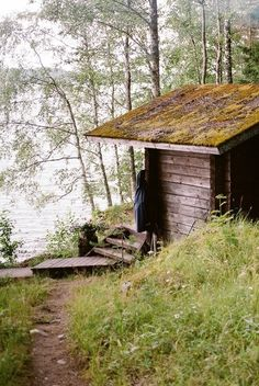 Sauna by the lake Cabana, Log Burner, Cabins And Cottages, Cozy Cabin, Cabins In The Woods, Lake Life, Country Life, The Great Outdoors, Beautiful Places