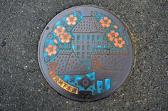 Color Yoshinogari Manhole Cover | Flickr