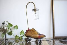 (11)Table Lamp Upcycled Vintage Roller Skates Lamp - studioryx