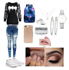 """Untitled #59"" by pisy88 on Polyvore featuring Converse, Kate Spade, CLUSE and Monsoon"