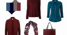 The Vivienne Files: The French 5-Piece Wardrobe + A Common Wardrobe: burgundy, teal, navy and grey