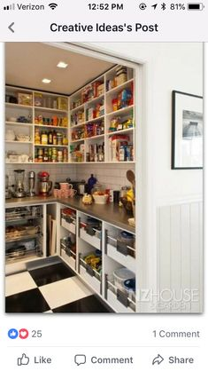 If you are looking for Kitchen Pantry Designs Ideas, You come to the right place. Below are the Kitchen Pantry Designs Ideas. This post about Kitchen Pantry D. Pantry Room, Pantry Storage, Walk In Pantry, Kitchen Storage, Kitchen Organization, Organization Hacks, Pantry Shelving, Wall Pantry, Organizing Ideas