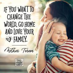 Love your family - Mother Teresa - #christianity #christian #bible #faith #jesuschrist #God #love #christianencouragement #truth #biblestudy