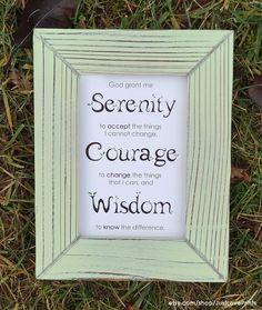 the serenity prayer 4x6 framed print light mint frame inspirational christian art