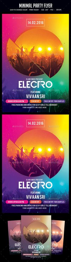 Minimal Party Flyer PSD Template • Download ➝ https://graphicriver.net/item/minimal-party-flyer/17094490?ref=pxcr