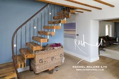Staircase by Bisca Bespoke Staircases, Interior by Rachel McLane Interior Design, York