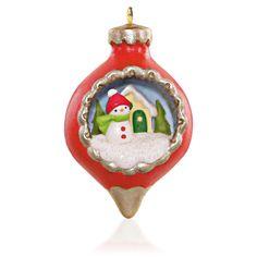 Hallmark  A World Within Snowman Ornament Miniature