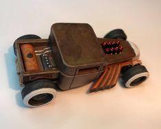 Bone Shaker Rat Rod by Toxic Kustomz Bone Shaker, Custom Hot Wheels, Remote Control Cars, Mad Max, Model Building, Rats, Hot Rods, Diecast, Slot
