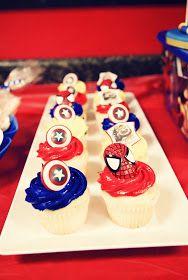 Cupcake do Homem Aranha