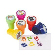 Kitten Party Cat Stamper Party Favors. One set of 6 assorted Kitten Party Cat Stamper Party Favors. Safe and non-toxic. plastic. Find it at http://www.ezpartyzone.com/pd-kitten-party-cat-stamper-party-favors-6-ct.cfm