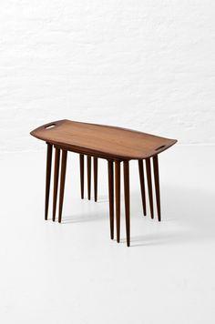 Jens Harald Quistgaard; Teak  Nesting Tables for Nissen, 1950s.