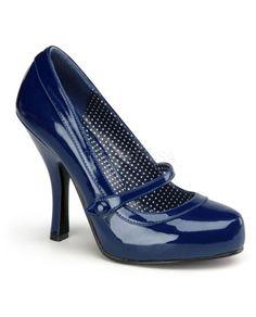 Gorgeous blue Mary Jane heels #blue #weddings