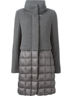Shop Fay panelled padded coat in Mantovani from the world's best independent bou. - Belinda - - Shop Fay panelled padded coat in Mantovani from the world's best independent bou. Mode Jeans, Down Coat, Quilted Jacket, Winter Coat, Coats For Women, Work Wear, Ideias Fashion, Winter Outfits, Winter Fashion