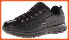 Skechers for Work Women's Sure Track Trickel Slip Resistant Work Shoe,Black,8.5 M US - Work and saftey shoes for women (*Amazon Partner-Link)
