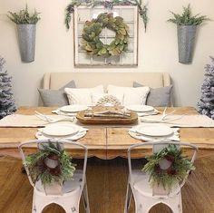 Christmas And Interior Decorating Ideas Farmhouse Dining