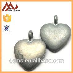anti-sliver 3D heart shape charm pendant