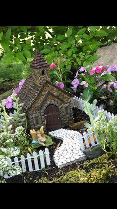 Miniature FAIRY GARDEN ~ Mini Hummingbird Haven Figurine with Flower Cluster