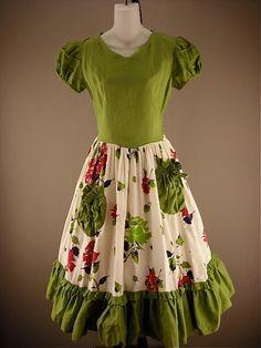 Fabulous early 40s swing dress size medium by melsvanity on Etsy, $98.00