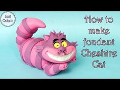 In this tutorial I will show you how to make fondant Cheshire Cat from Alice in Wonderland cake topper. I have also made tutorials for Alice, White Rabbit an. Cat Cake Topper, Cake Topper Tutorial, Fondant Tutorial, Fondant Toppers, Fondant Bow, Fondant Flowers, Fondant Cakes, Cupcake Toppers, Cheshire Cat Cake