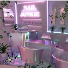 Salon salongoals hair hairdresser amr beauty beautysalon salongoals idesdesalon salon interior design inspiration decor ideas and design buyrite beauty salon equipment chic vintage modern styling chair shampoo chair styling station and more! Nail Salon Design, Home Nail Salon, Nail Salon Decor, Hair Salon Interior, Beauty Salon Decor, Salon Interior Design, Beauty Salon Design, Beauty Studio, Salon Nails