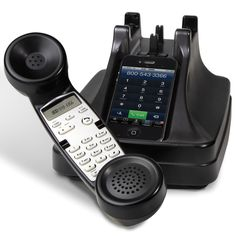 The iPhone Cordless Handset - Hammacher Schlemmer. Love the versatility of this since I can control my phone from the handset and still have it charging if I need to walk away from it! Great for home office that uses their cellphone for business line! Gadgets And Gizmos, Electronics Gadgets, Tech Gadgets, Cool Gadgets, Newest Gadgets, Wine Gadgets, Amazing Gadgets, Iphone 4, Apple Iphone