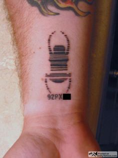 """This is so cool! This weekend, I met someone with a trackable tattoo, and you need that code to find his cache!"""