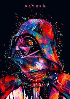 Lowpoly illustrations: Star Wars portraits take on color - Trend Illustration Design 2019 Star Wars Fan Art, Dark Wallpaper Iphone, Star Wars Wallpaper, Wallpaper Darth Vader, Meninas Star Wars, Art Noir, Android Art, Vader Star Wars, Star Wars Poster