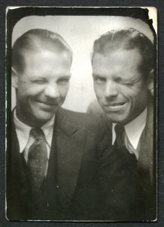 Couple of winkers. #vintage #photobooth #1930s