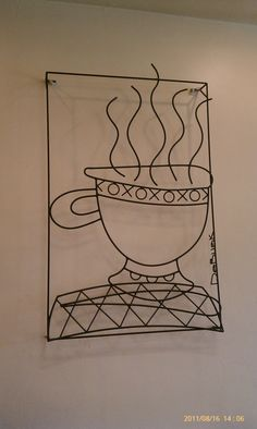 coffee time wire art