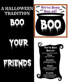 A Halloween Tradition - Boo-ing Your Friends -