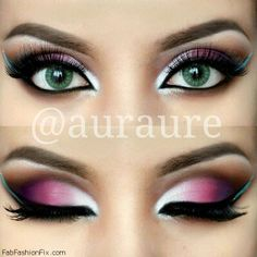 Gorgeous ombré eyes make-up look