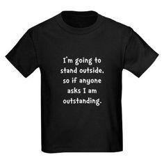 Outstanding Kids Dark T-Shirt