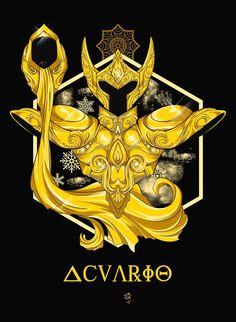 Zodiac Signs Aquarius, Zodiac Art, 12 Zodiac, Aquarius Art, Zodiac Horoscope, Knights Of The Zodiac, Manga Anime, Anime Art, Asian Tattoos